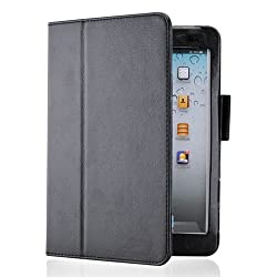 Gearonic Magnetic PU Leather Folio Stand and Smart Cover Stylus Holder for iPad mini, Black (AV-5230BPUIB)