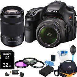 Sony Alpha SLT-A57K 16.1 MP Digital SLR Kit w/ 18-55mm, 55-300 Ultimate Bundle