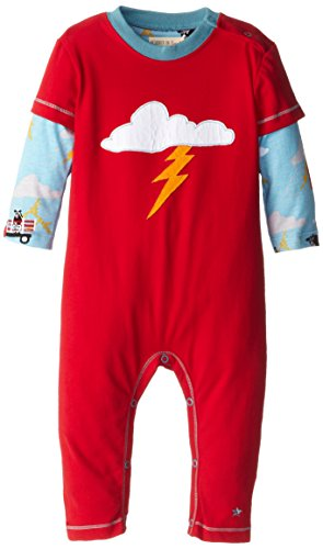 Hatley - Baby Boys Infant Infant Boys Graphic Romper - Storm, Red, 12-18 Months back-1068509