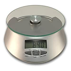 com food scale with clock chefs glass top digital kitchen scales