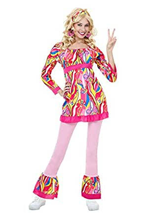 Fun Costumes womens Plus Size Disco Top and Bell Bottoms Costume