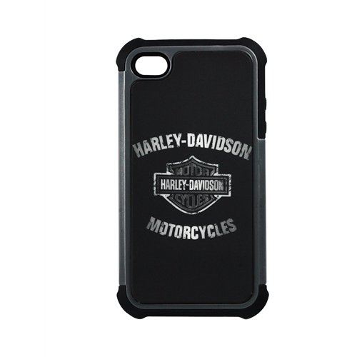 Fuse 7432 Harley Davidson Rugged Hybrid Case for iPhone 4/4S - 1 Pack - Retail Packaging - Black
