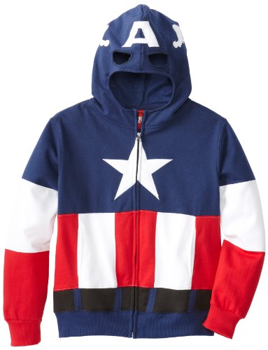 Captain America Big Boys' Cap A Fleece, Multi, Small (Marvel Sweatshirt Kids compare prices)