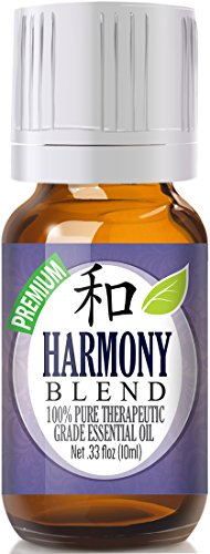 Harmony Blend 100% Pure, Best Therapeutic Grade Essential Oil - 10ml - Comparable to Young Living's Harmony - East Indian Sandalwood, French lavender, Ylang Ylang, Frankincense, Sweet Orange, sage, bergamot, lemon, jasmine, roman chamomile, palmarosa