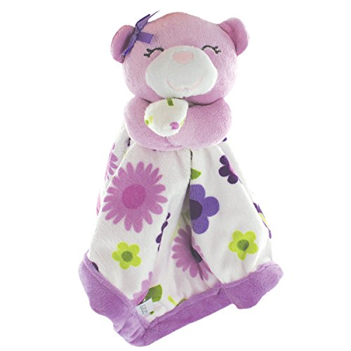 Carter's Security Blanket, Purple Bear with Floral (Discontinued by Manufacturer)