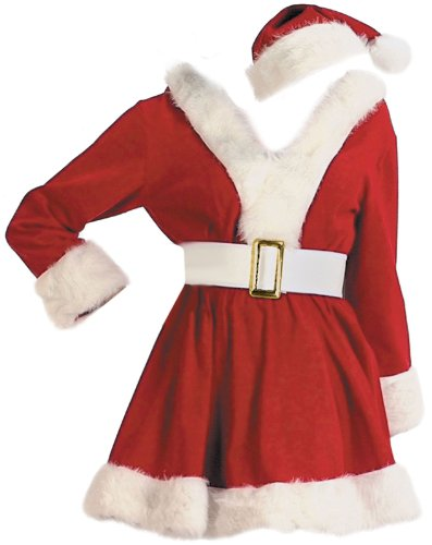 Halco Corduroy Elf Costume Girls Sizes 4-6 Red [8053-4]