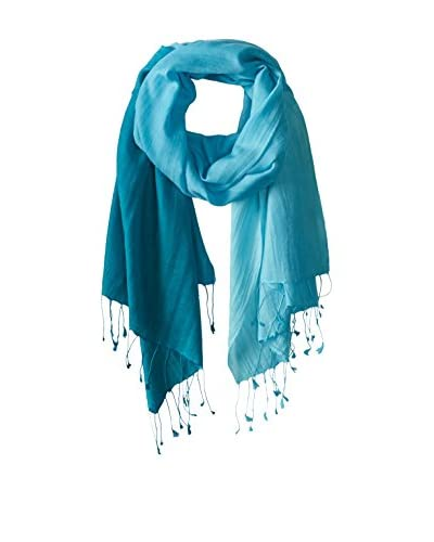 Saachi Women's Cashmere Ombre Scarf, Teal Ombre