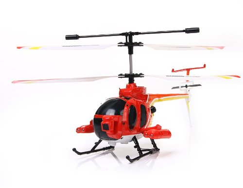 3319B 3.5-Channel R/C Radio Control Helicopter with Camera Gyro (Red)