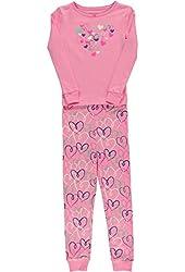 Hartstrings Little Girls Long Sleeved Heart Print Pajama Set