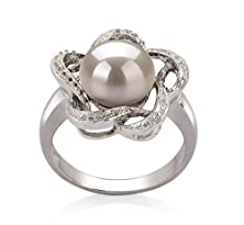 buy Fiona White 9-10Mm Aa Quality Freshwater 925 Sterling Silver Pearl Ring - Size-9