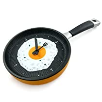 Frying Fry Pan Egg Omelet Modern Design Wall Clock Home Decor