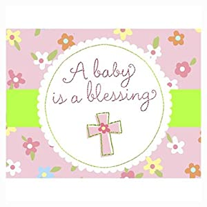blessed baby girl girl baby shower invitations 8 count
