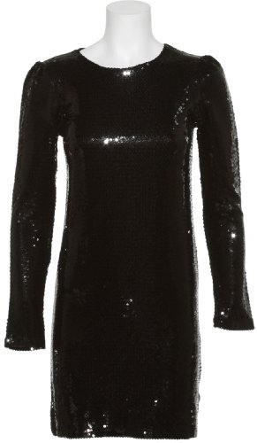 [Clothing & Accessories] KERSH Sparkle Sequin Jersey Knit Dress[KH17008 U] BLK,LRG   amazon.coms service   41MQfr28GbL