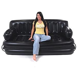 Smart air beds king sized 5 x 1 inflatable for Sofa bed amazon