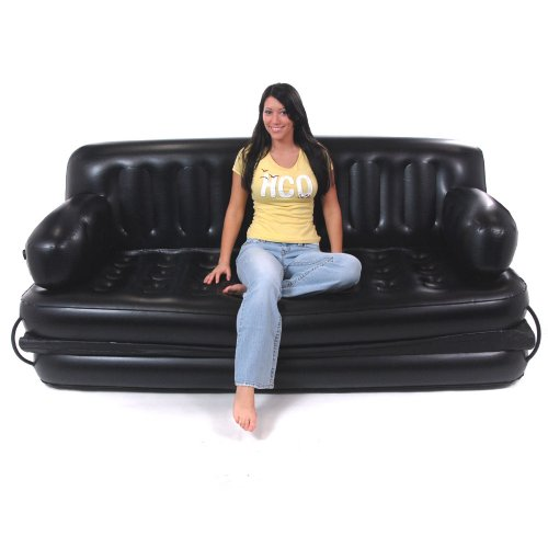 Smart Air Beds King Sized 5 X 1 Inflatable Sofa Bed Black