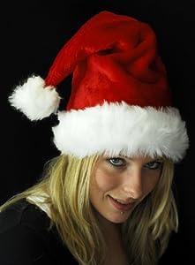 Weihnachtsmütze Mütze Weihnachten Weich Nikolausmütze Dicker Fellrand aus Plüsch Top Qualität Neue Qualität 2013 W100