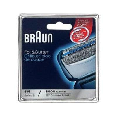 Braun Series 5 Combi 51s Foil And Cutter Replacement Pack (Formerly 8000 360 Complete Or Activator) (Double Pack) by Braun