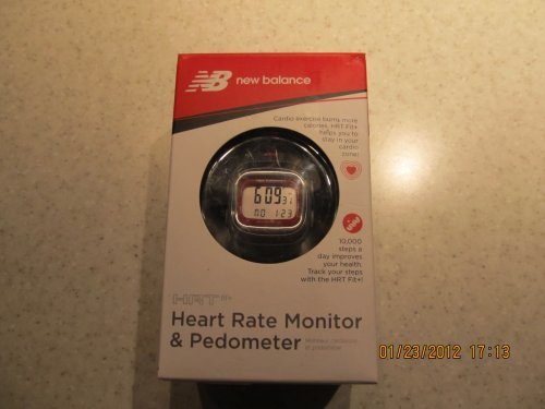 Buy Low Price New Balance HRT Fit Plus Heart Rate Monitor Watch Pedometer Calorie Counter Red (50094NB)