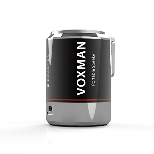 REALVOX Voxman Portable Wireless Bluetooth Speaker-Hi-Fi Sound with Crystal Clear Audio-Travel-Friendly, Smartphone Compatible-Indoor/Outdoor Use, Silver (Soda Speakers compare prices)