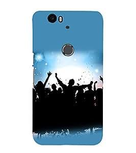 printtech Disco Party Dance Back Case Cover for Huawei Google Nexus 6P