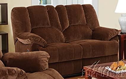 ACME 50221 Obert Corduroy Power Motion Loveseat, Brown