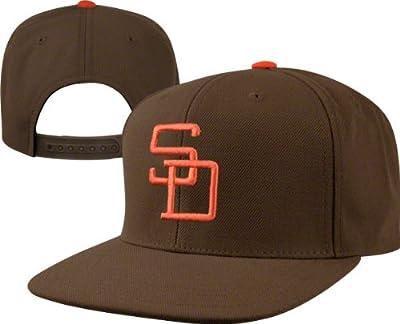 San Diego Padres MLB 400 Series Flat Brim Adjustable Snapback Hat -