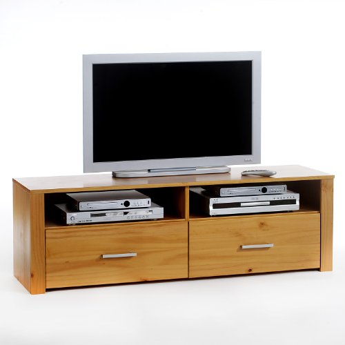 meubles tv meuble tv tenno 2 tiroirs 2 niches lasur couleur miel. Black Bedroom Furniture Sets. Home Design Ideas