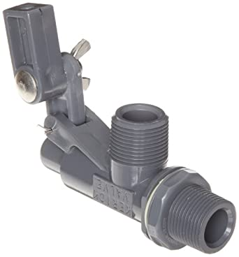 "Kerick Valve PT75SS PVC Float Valve, Tank Mount, 37 gpm at 60 psi, 3/4"" NPT Male"
