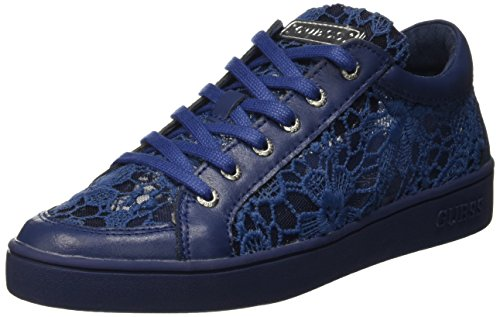 Guess Lace Active - Sneaker basse Donna, Blu, 39