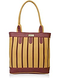 Fantosy Multi Chain Beige And Maroon Handbag(fnb-379)