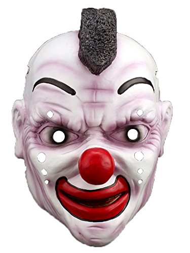 [Spring fever Deluxe Novelty Halloween Mask Vendetta Costume Accessories Cosplay Clown One Size] (Homemade Scary Clown Halloween Costumes)