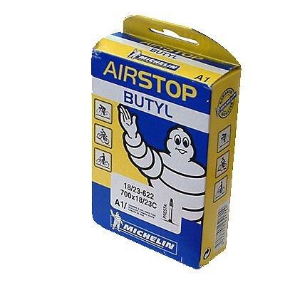 Michelin A1 AirSTOP Butyl Road Bike Tube - Presta Valve - Yellow/Blue Box