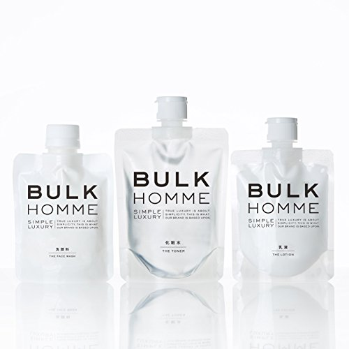 BULK HOMME コンプリートセット 洗顔料・化粧水・乳液
