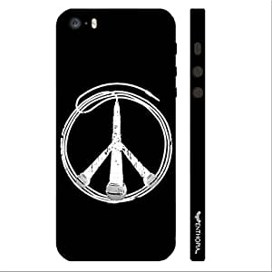 Apple IPhone 5/5S Peace is Music designer mobile hard shell case by Enthopia