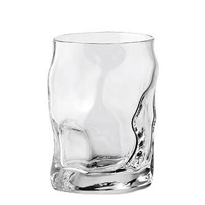 Bormioli Rocci Sorgente 39676i1 Whisky Glass 300 ml Set of 6 Crushed Look without Full Mark