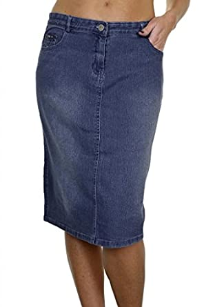 2503 1 plus size stretch denim pencil skirt