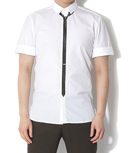 wiberlux-neil-barrett-mens-dotted-necktie-print-short-sleeve-shirt-39-white