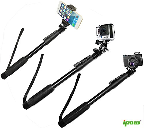 selfie stick gopro camera monopod ipow extendable ultra duty waterproof monopod pole with. Black Bedroom Furniture Sets. Home Design Ideas