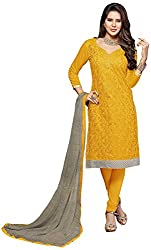 Airboyz Women's Art Silk Unstitched Dress Material (Yellow)