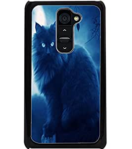 ColourCraft Scary Cat Design Back Case Cover for LG G2