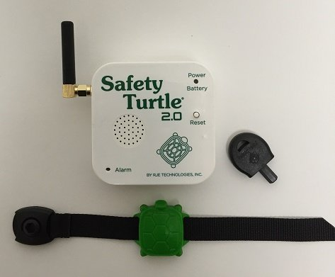 New-Safety-Turtle-20-Child-Immersion-PoolWater-Alarm-Kit-2-wristbands