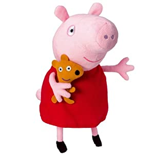 Peppa Pig - Peluche con voz, 24 cm (Bandai 84255)