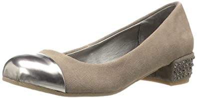Kenneth Cole REACTION Women's Slick Studs Flat,Taupe Suede,6 M US