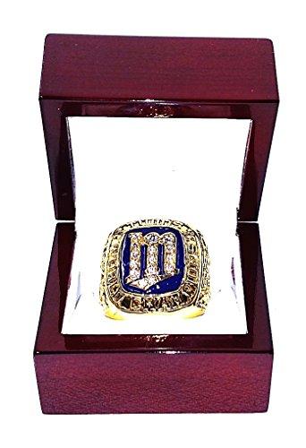 MINNESOTA TWINS (Kirby Puckett) 1987 WORLD SERIES CHAMPIONS (Rare) Collectible Baseball Replica Championship Ring (Minnesota Twins Kirby Puckett compare prices)