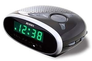 Jensen JCR175 AM/FM Alarm Clock Radio with 0.6-Inch Green LED Display