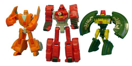 Transformers Henkei C-19 3-pack Minibot Spy Team - Cosmos Wheelie  &  Warpath Figures