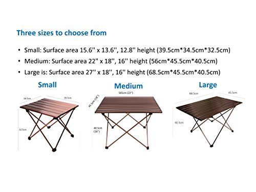 Trekology camping table with aluminum table top portable folding table in a bag for beach - Low portable picnic table in a bag ...