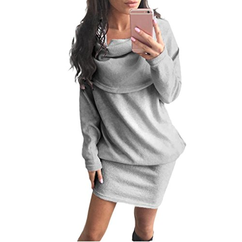 Amlaiworld-Femmes-Automne-hiver-Robe-pull-Bodycon-revers