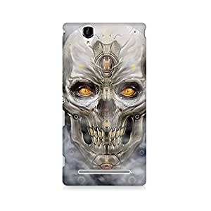 Mobicture Skull Abstract Premium Printed Case For Sony Xperia T2