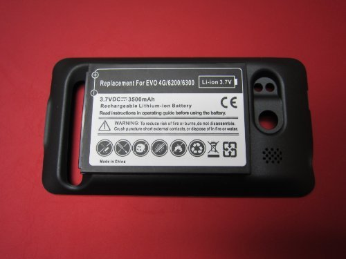 HTC Evo 4G 3500mAh Extended Battery + Cover